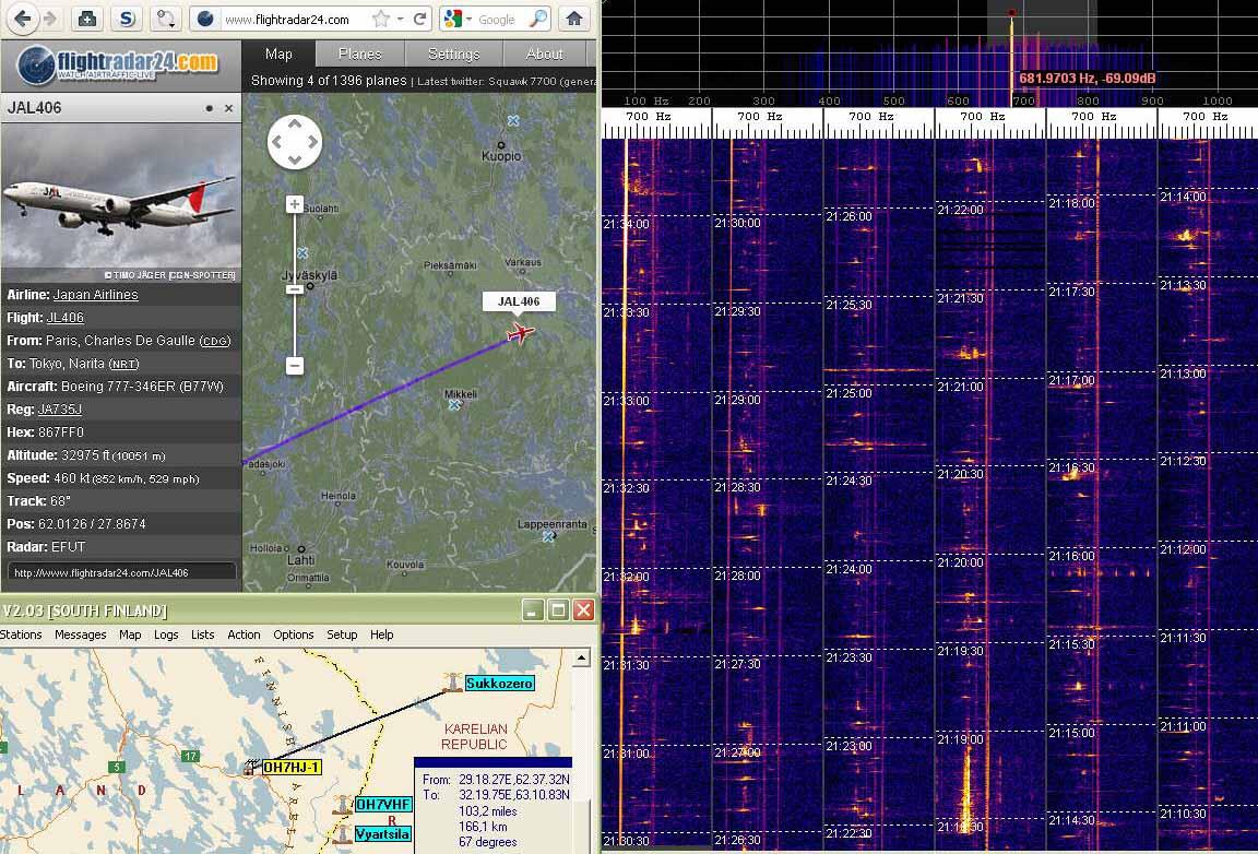 2012-01-01 49750-07 Boeing 777 JAL406 doppler gets stronger- speed 852 kmh (c) OH7HJ.jpg