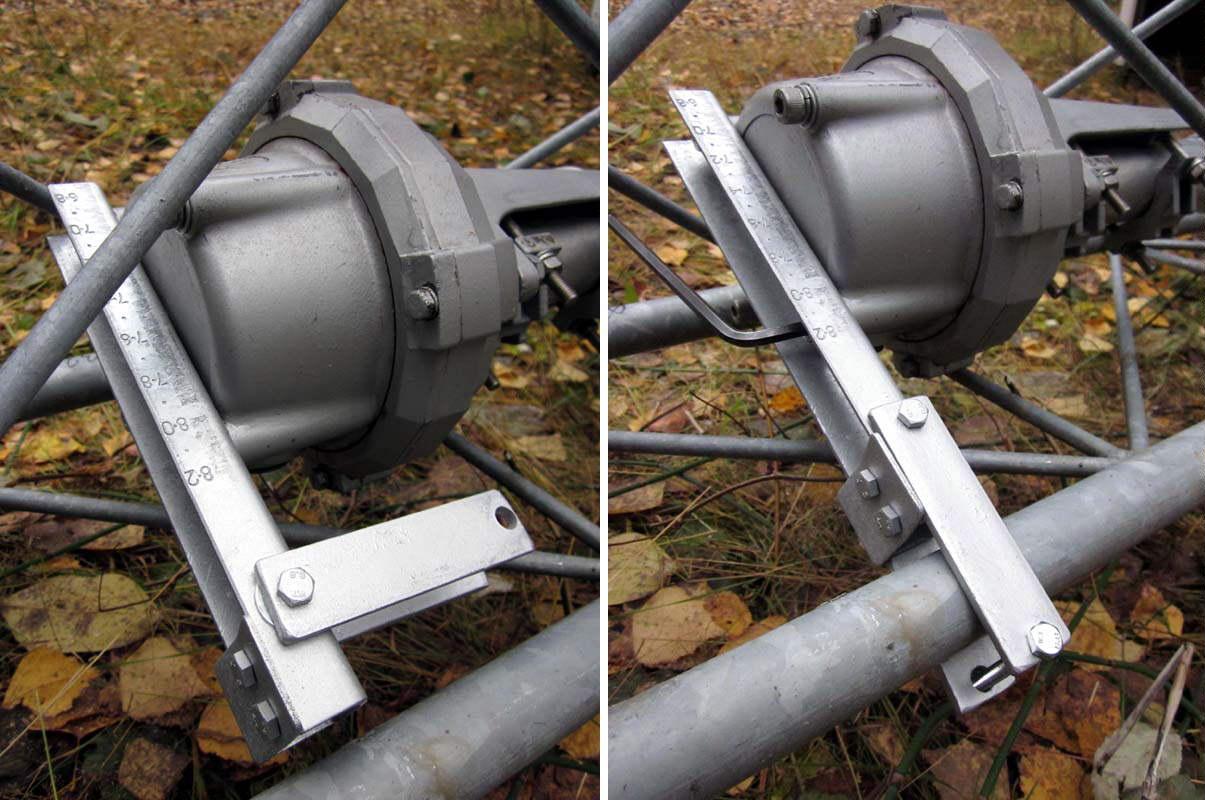 2014-10-15 Ylempi antenninkääntäjä momenttivarsi ensi avattuja ja sitten lukittuna (c) OH7HJ.jpg
