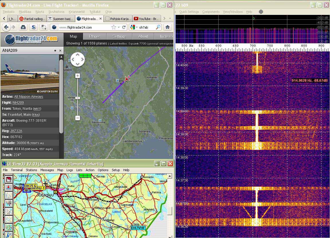 Radar06 Last faint echo of departing aircraft on 920 Hz right - (c) OH7HJ.jpg