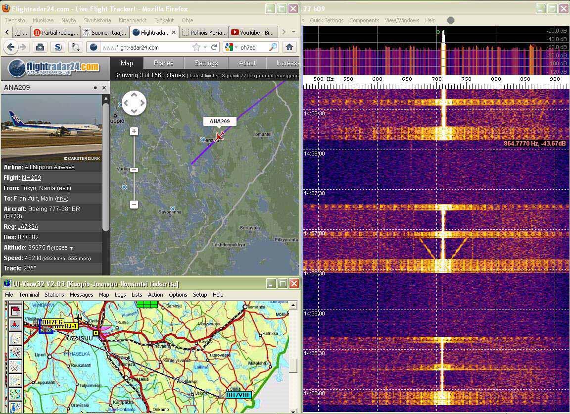 Radar05 Aircraft departing - Doppler now on 890 Hz right - (c) OH7HJ.jpg