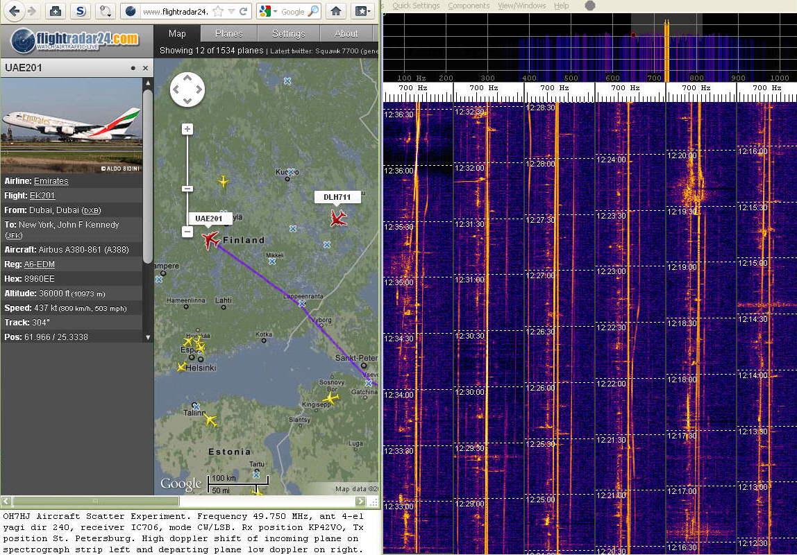 2012-01-18 49750-03 Super jumbo A380 UAE201 doppler out of my range near Jämsä at about ts 123500 alt 11 km (c) OH7HJ.jpg