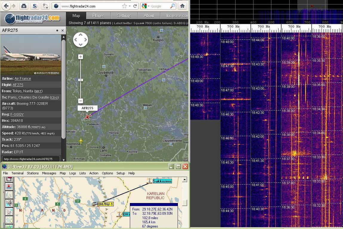 2011-12-29 49750-07 Boeing 777 AFR275 dopplerjälki jagilla seurattavissa Padasjoelle asti (c) OH7HJ.jpg